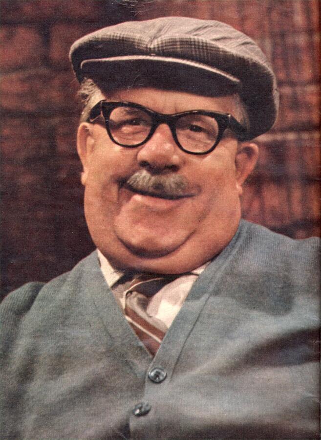 A TV superstar from 1970: Albert Tatlock, from Coronation Street.