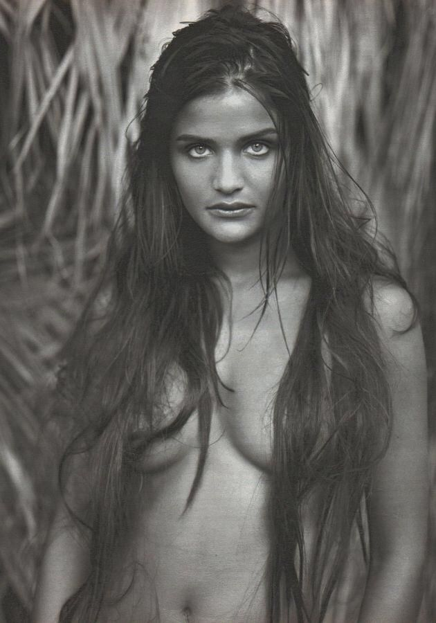 Helena Christensen the model who became the desire of many a boy in the Chris Isaak 'Wicked Game' music video. Mid-80's