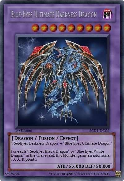 Blue-Eyes Ultimate Darkness Dragon by CommanderNova702 ...