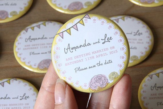 RETRO BUNTING design  Save the Date Magnets by WeddingSavetheDates
