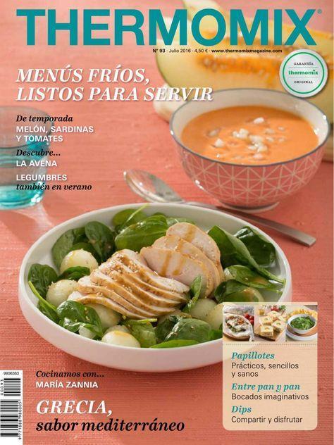Revista Thermomix nº 93 (julio 2016) - Menús fríos, listos para servir