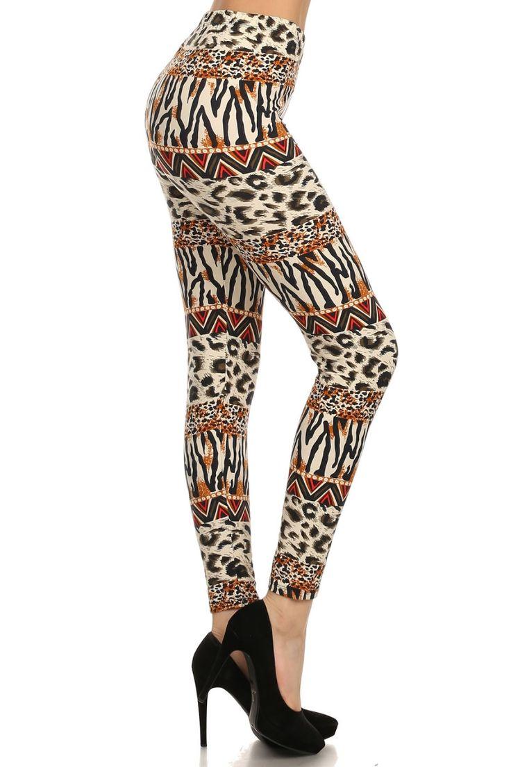 Always Bold and Girly Animal Print Leggings - Leopard Print Leggings