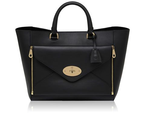 Mulberry - Willow Tote in Black Silky Classic Calf