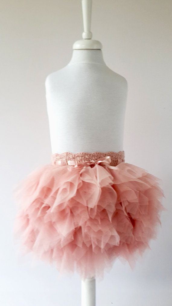 Blush Pink Playful Tutu Skirt. Ruffle Tulle Skirt. Frilly tulle skirt with adjustable waistband