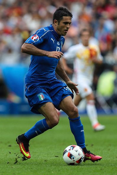 #EURO2016 Eder of Italy drives the ball during the UEFA EURO 2016 round of 16 match between Italy and Spain at Stade de France on June 27 2016 in Paris France