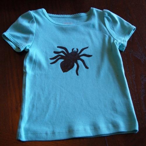 halloween freezer paper shirt - Homemade Halloween Shirts