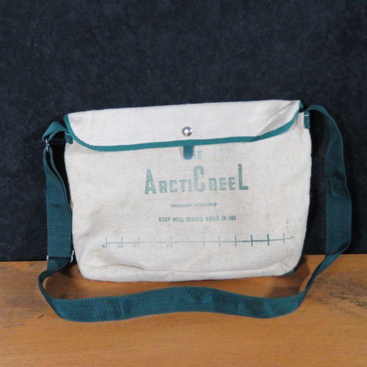 Vintage Quot The Artic Creel Quot Canvas Bag Fishing Creel Fish