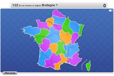 Régions de France jeux quizz pédagogiques | Mange, aime, parle en français! | Scoop.it