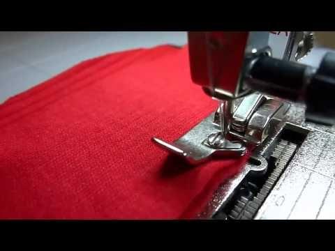Шитье трикотажа и обметка срезов на простой швейной машине без оверлока - YouTube