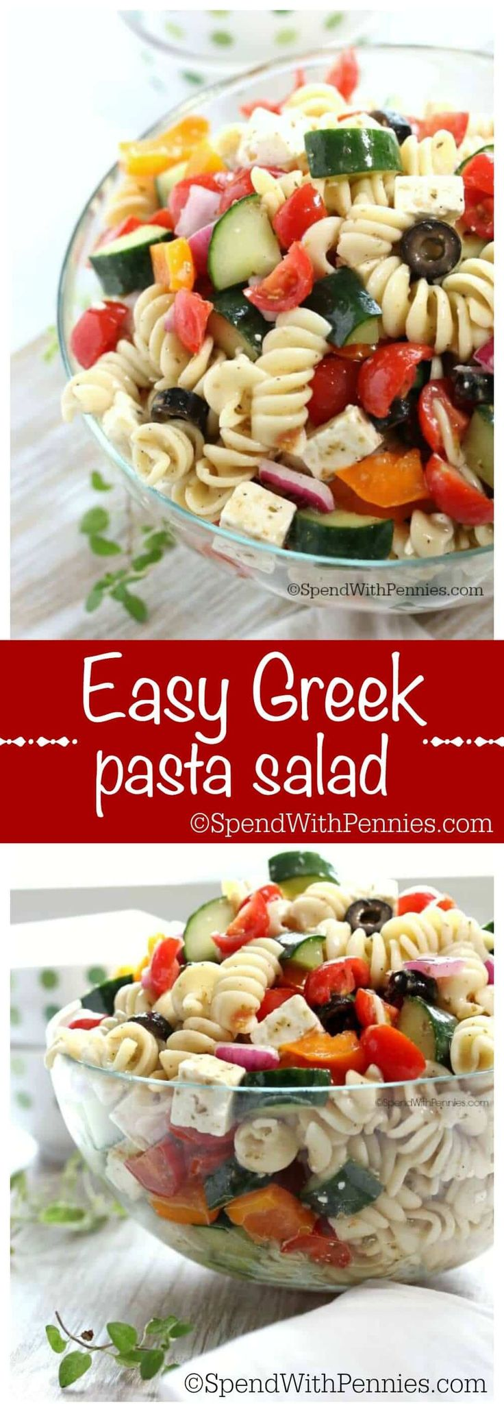 Greek Pasta Salad|Spend with Pennies
