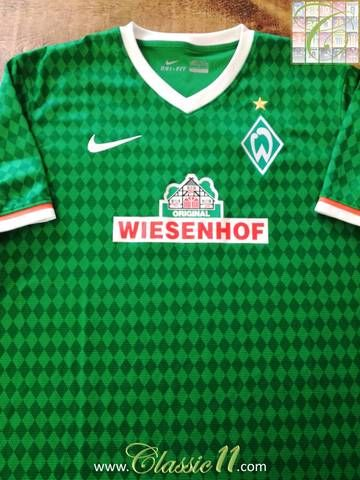 Official Nike Werder Bremen home football shirt from the 2013/14 season.