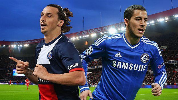 """Chelsea, con más efectivos que el PSG tras su espectacular """"plaga"""" de lesiones del pasado fin de semana, estará más descansado para el encuentro de ida de los octavos de final de la Champions League de mañana en París."""