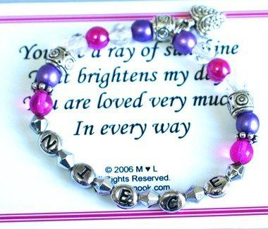 Special Niece Bracelet Abernook. $24.00. Great gift idea for a niece birthday, holiday gift or special occasion gift.. You are a joy of sunshine that brightens my day.   You are loved very much in every way.. This fun bracelet says it all. Individually gift box with a verse card.
