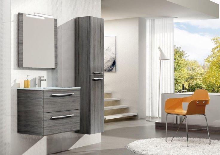 Jump 60 2S nugat, umywalka szklana/glass washbasin Loka. #elita #meble #lazienka #jump #bathroom #furniture #colorful