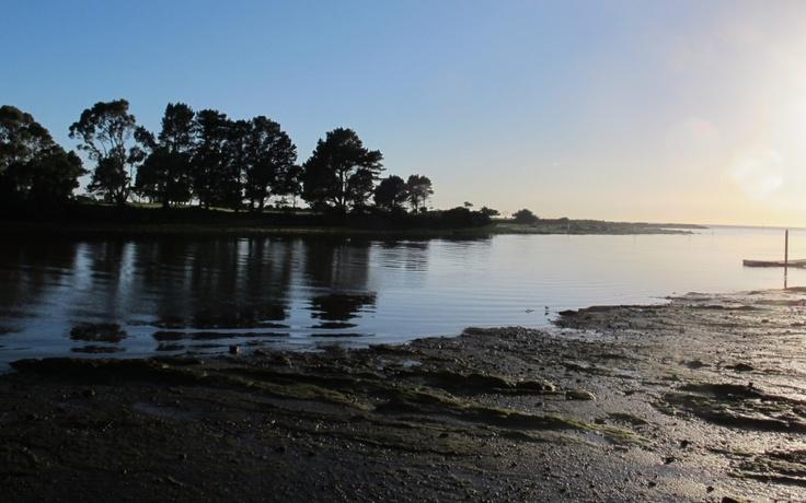 Sunrise on the river at Wynyard, Tasmania.