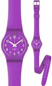"""SWEET PURPLE La correa flexible de silicona de este Lady es un """"must –have"""": la correa de doble vuelta, es doblemente colorida! Con este reloj tu muñeca lucirá a la moda!"""