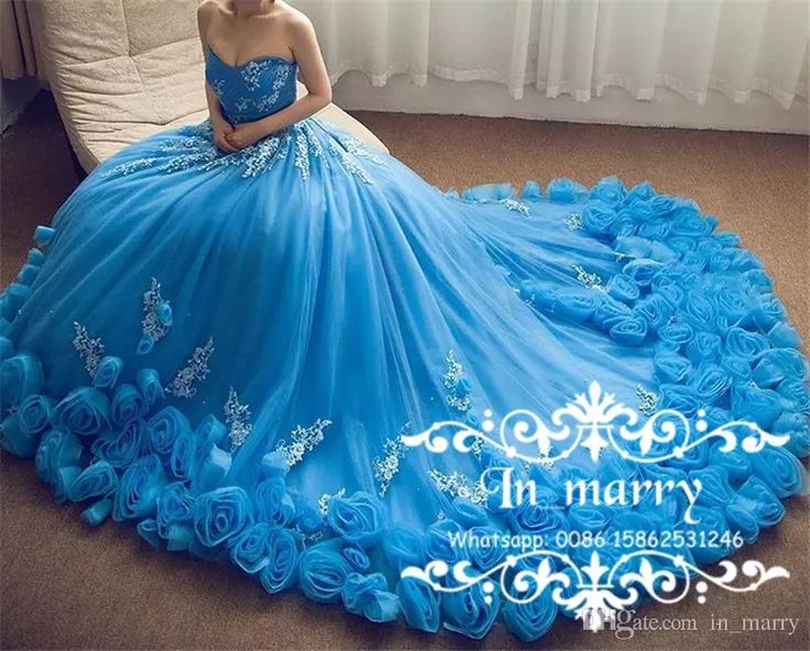 Royal Blue Cinderella Prom Dresses with 3D Flowers 2017 Ball Gown Sweetheart Lace Appliques Plus Size Debutante Formal Quinceanera Gowns Arabic Evening Dresses Ball Gown Prom Dresses Plus Size Prom Dresses Online with $312.5/Piece on In_marry's Store | DHgate.com