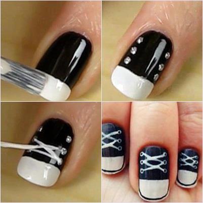 25 best ideas about sneaker nails on pinterest converse for Decoracion de unas converse
