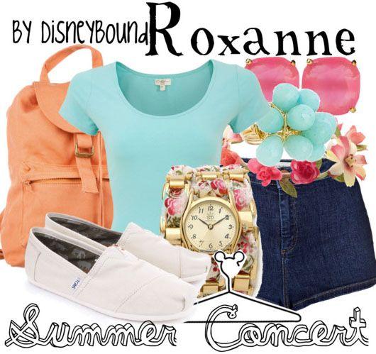 summer concert | Disney Bound Roxanne