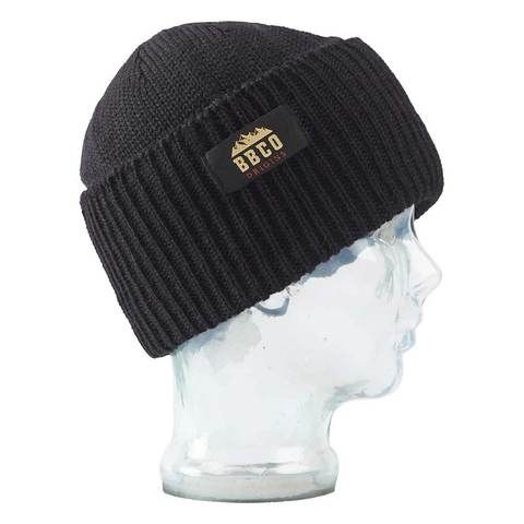 Big Balls Collective, BBCO, Black Wool beanie. A stylish Fisherman style warm winter wooly hat for the slopes, hiking or for venturing out to town in the cold.
