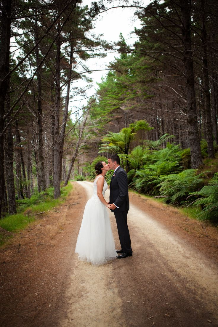 On the private forestry road at Whangaihe bay wedding with Susi Liddington Creative. www.susiliddington.com www.jennayoungphotography.co.nz