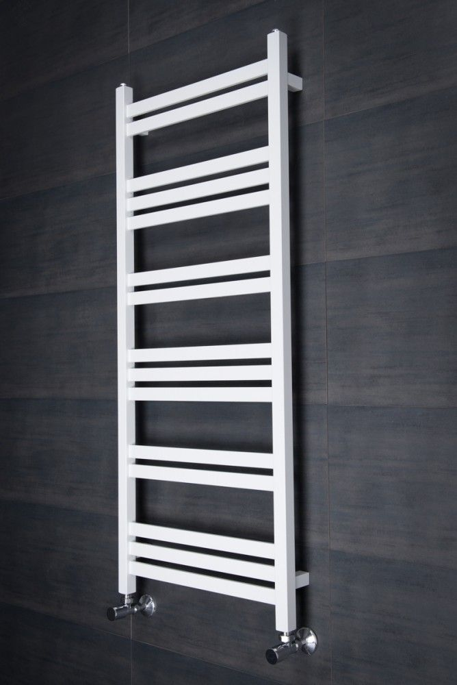 Find This Pin And More On Bathroom Boden 1200 X Straight White Square Ladder Heated Towel Rail