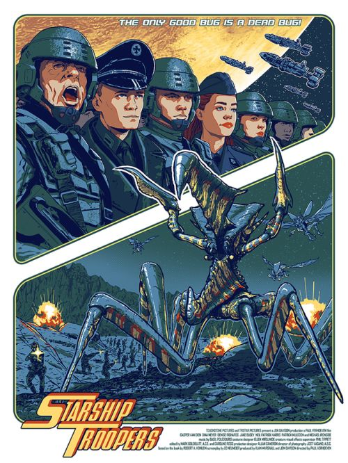 "Starship Troopers by Timothy Anderson / Facebook / Twitter / Tumblr / Instagram / Store  18"" x 24"" screen print, edition of 90. Available HERE."