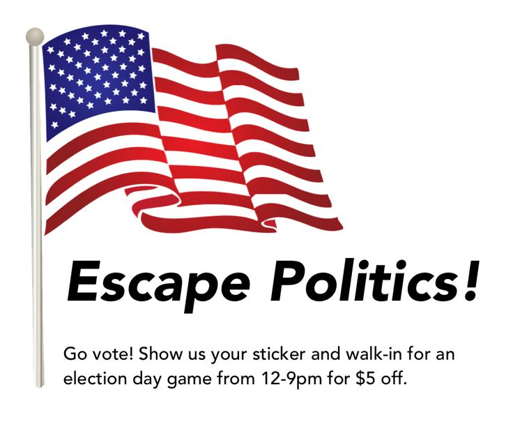 #CountdownGames is happy to announce that they are giving $5 off for escape games on #Election day from 12-9 pm. To get $5 off on our escape games tomorrow, simply show us your sticker! Everyone is welcome, vote and play on  November 8th 2016. 12pm-9pm!  #ImVotingBecause #Election2016 #ElectionFinalThought