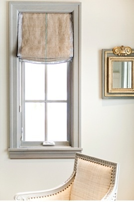Simple window treatment & lovely chair