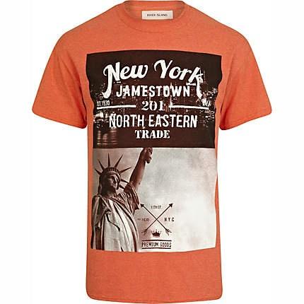Orange New York print t-shirt £16.00
