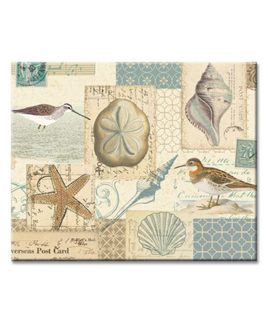 CounterArt Shell Collage Cutting Board   zulily