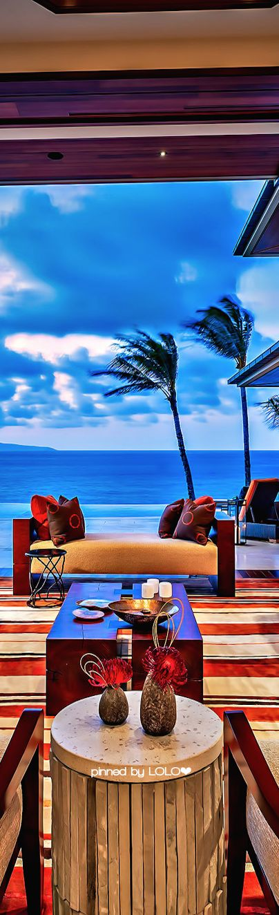 Beach Homes- Maui Beach House | LOLO❤︎ | LadyLuxuryDesigns