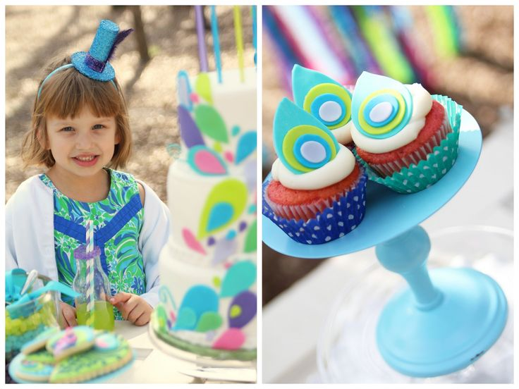 Peacock Party {Girl's Birthday} | Marabous