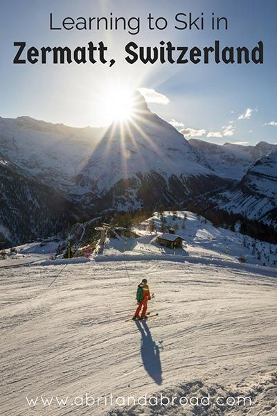 I couldn't really imagine learning to ski in a place more beautiful than Zermatt. Here's what I got up to in my first ever ski lesson (and there's even a video for you!)