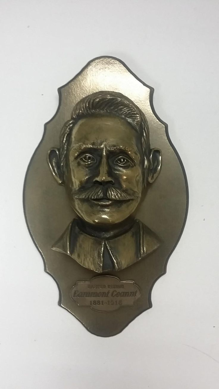 13 best irish civil war props images on pinterest easter eamonn ceannt 1916 easter rising centenary commemoration plaque bronze finished plaque that is handmade in ireland negle Image collections