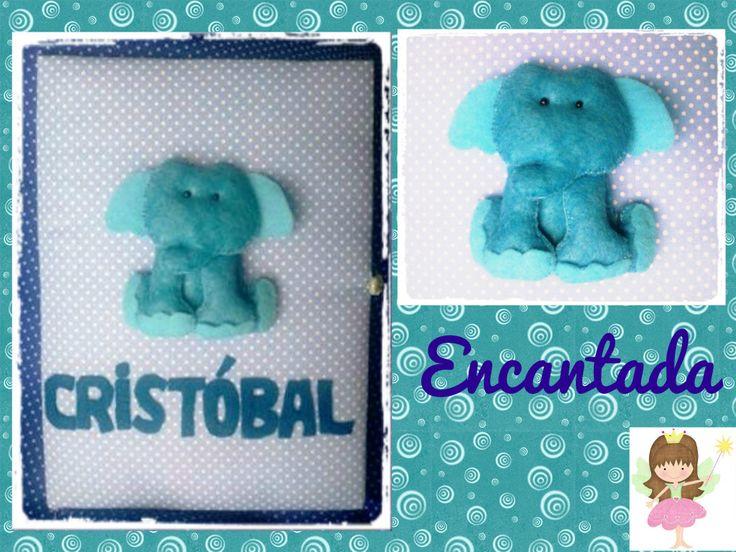 Diseño elefante en fieltro- Encantada
