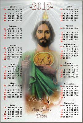 Calendarios católicos 2015-4 Calendarios de varios santos