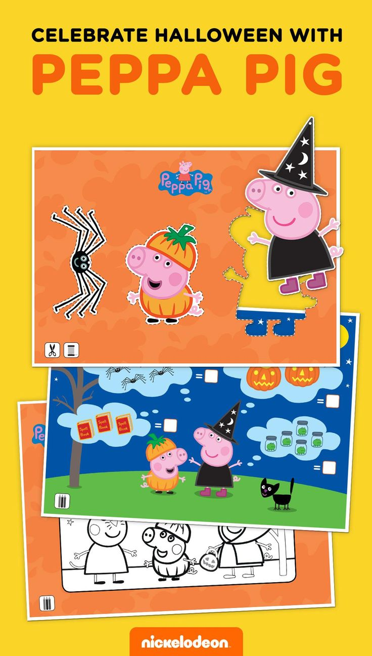 Pe peppa pig online coloring pages - Peppa Pig Halloween Activity Pack