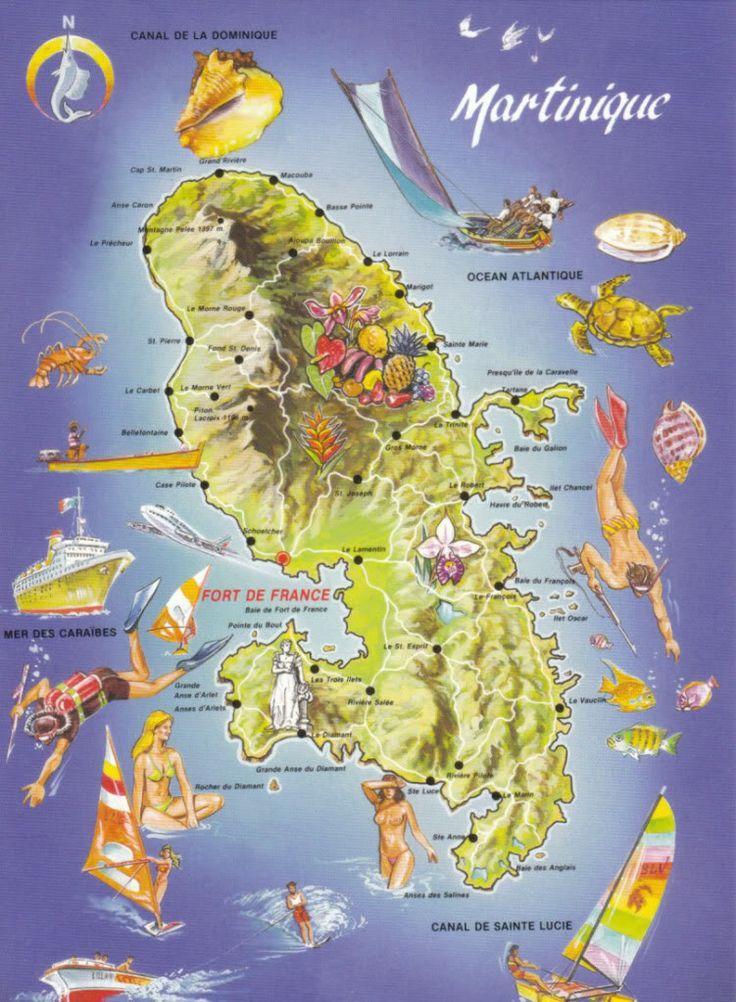 Map Martinique Martinique Pinterest Medium D And Maps