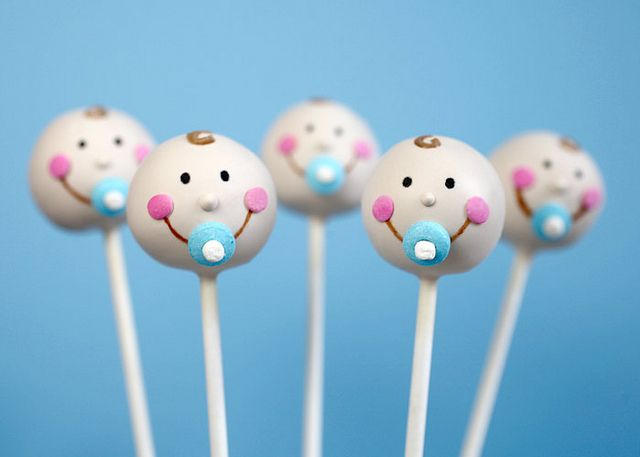 Baby Cake Pops.  Great idea for a baby shower!