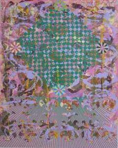 Christine Streuli: Wüstenfuchs, 2008, 180 x 140 cm,  lacquer on cotton