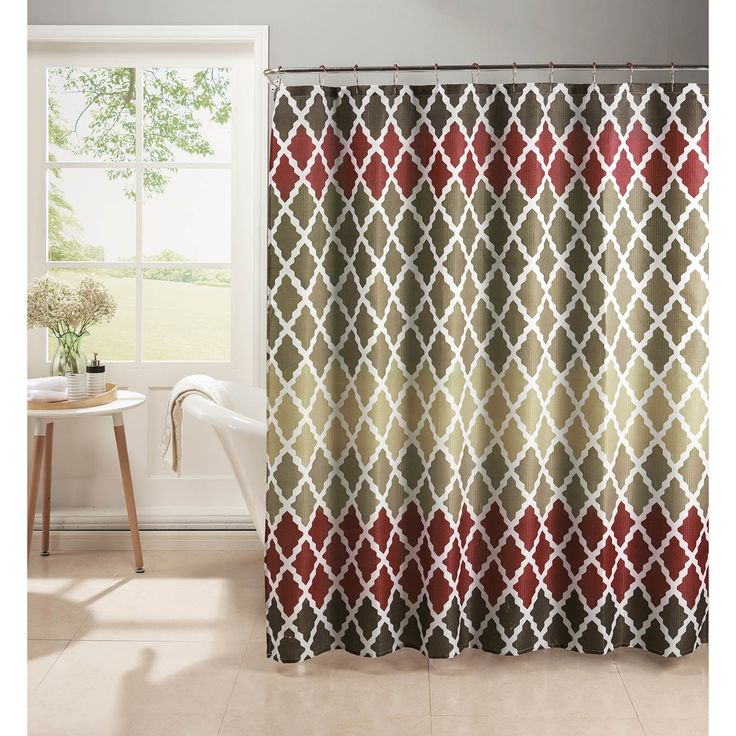 Bath Studio Diamond Weave Textured Shower Curtain Set & Reviews | Wayfair