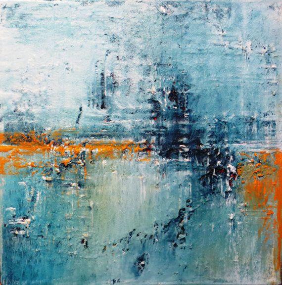 Modern Abstract Heavy Textured Art Impasto Mixed by AbstractTara, $135.00