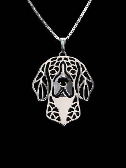 Geometrische zilver Plated Beagle hanger Honden ketting