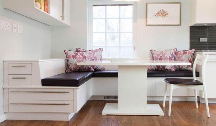 Best Leather Banquette Dining Sets Design