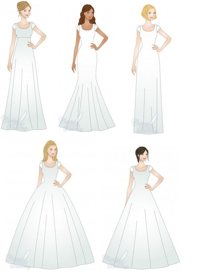 How To Pick Your Wedding Dress Silhouette