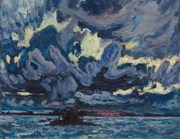 J. E. H. MacDonald (Canadian, Group of Seven, 1873–1932) Wind Clouds. Wind Clouds was exhibited at the first Group of Seven exhibition in May 1920. (Sotheby's Canada)
