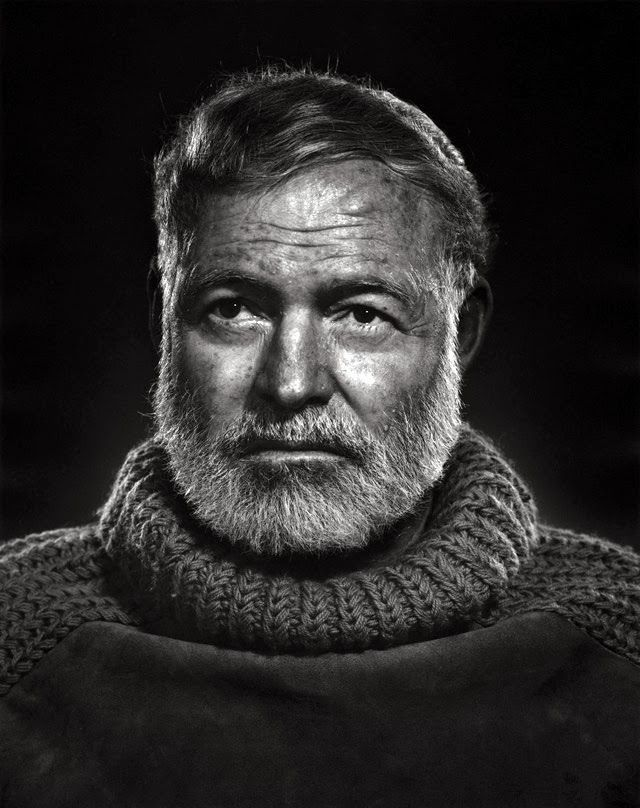 """Ernest Hemingway"" (1957) by Armenian-Canadian born photographer Yousuf Karsh (1908-2002). #Portrait #Photography"