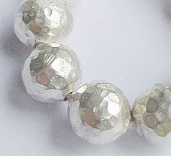 4 of Karen Hill Tribe Silver Hammered Round Beads 10 by twinklehut, $12.79