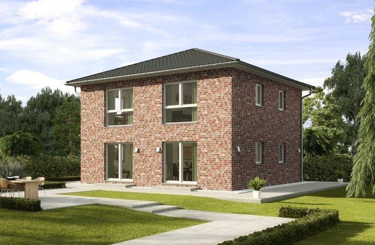 Stadtvilla Neubau modern mit Klinker Fassade & Zeltdach